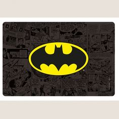 Kit Para Mesa Batman 4 Placas de Jogo Americano + 4 Porta Copos #DCComics #Batman