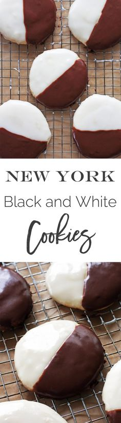 New York Black and White Cookies | Recipe by @haleydwilliams