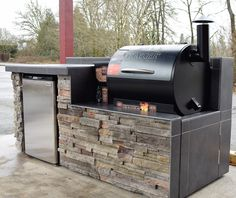 At Sunset Outdoor Living, we offer a wide range of quality outdoor kitchens, accessories and more.  Our production facility & seamless process allows us to build you the best outdoor kitchens quickly and accurately. We are constantly expanding our product selection to better serve customer needs. Outdoor Kitchen pellet grilling with a Traeger. Custom outdoor kitchens and fire features Sunset Outdoor Living  503-831-467