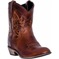 Dingo Ladies Shorty Cowboy Boots Willie Brown Leather