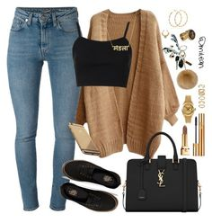 """"""""""" by milean ❤ liked on Polyvore featuring Yves Saint Laurent, Vans, Topshop, Rolex, Forever 21 and Goldgenie"""