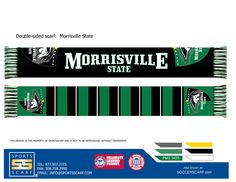Morrisville State University Mustangs Soccer High Definition Knit Scarf