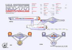 U.S.S. Enterprise NCC-1701 by Paul-Muad-Dib