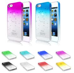 Bubble Raindrop style iPhone 5 5s phone case - Assorted shades