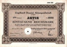 Engelhardt-Brauerei Aktiengesellschaft  1 000 RM 1928