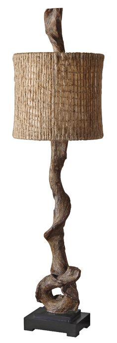 Driftwood lamp   Rustic Decorating   lamp