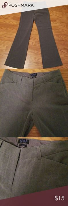 Star City Gray Slacks Gray slacks with button closure, saftey slide closure and zipper closure. All functional. Two pockets in front. Pockets on back are for looks only. Soft material. No flaws. Gently worn. Star City Pants Trousers