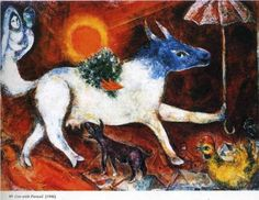 marc-chagall, cow-with-parasol-1946