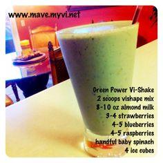 90 Day Challenge | Visalus Recipes: Green Power Vi-Shake
