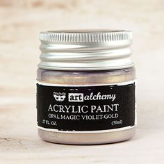 Prima+-+Finnabair+-+Art+Alchemy+-+Acrylic+Paint+-+Opal+Magic+-+Violet+Gold+at+Scrapbook.com