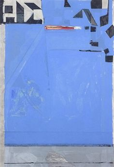 Artwork by Richard Diebenkorn, Blue with Red, Made of woodcut in colors on Echizen Kozo Mashi paper