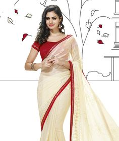 fashionandyou.com brings to you a lavish collection of classic drapes for you to transform yourself with. Featuring exquisite pieces and meticulous craftsmanship, each piece from this collection is pure indulgence, at rock bottom price! Take your pick, you can't go wrong with this one!Design Highlights: Lace Border WorkBRAND: VishalCATEGORY: Saree with Unstitched BlouseARTICLECOLOURMATERIALLENGTHSareeCreamChiffon5.40 metersBlouseMaroonArt Silk0.80 meterWe would always want to send you what…