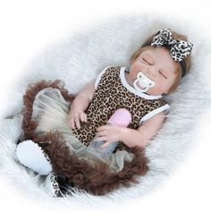 Full Silicone Reborn Babies Newborn Lifelike Baby Doll Reborn Sleeping Kids Brinquedos Toys For Children Little Baby Born Alive#baby