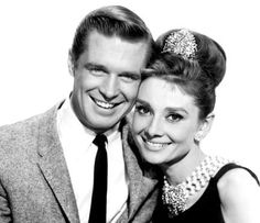 Holly Golightly and Paul Varjack in Breakfast at Tiffany's - Greatest screen couples of all time.