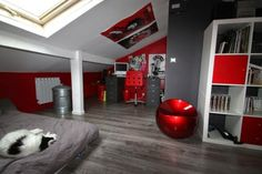 teen-boys-room-decor-ideas-teen-boys-room-with-gray-wall-and-red-accents.jpg 620×413 pixels