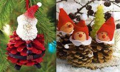 4 12 2015 Faire des personnages en pommes de pin, modèles et tutos Christmas Makes, Winter Christmas, Christmas Themes, Christmas Crafts, Christmas Ornaments, Holiday Decor, Pine Cone Crafts, Nature Crafts, Pine Cones