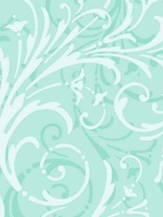 Pale Blue Layered Scroll Wallpaper