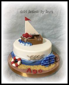 Boat birthday cake
