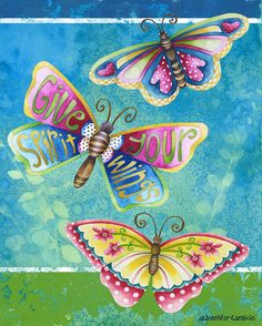Art Print 8x10. Give Your Spirit Wings. by studiopetite on Etsy, $18.00