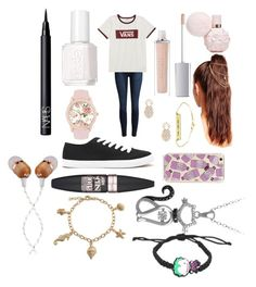 """""""Untitled #109"""" by galaxygamer1029 ❤ liked on Polyvore featuring Vans, ArtDeco, Essie, Jessica Carlyle, Sole Society, Forever 21, Missguided, NARS Cosmetics, Maybelline and Bling Jewelry"""