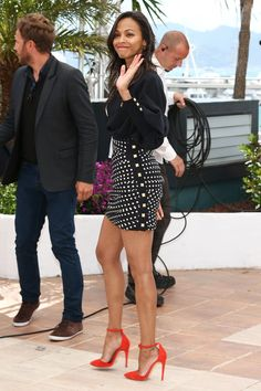 Zoe Saldana 2013-05-20 ''Blood Ties'' 66th Cannes Film Festival Cannes