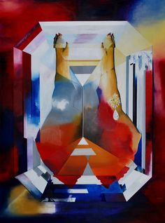 Adam & Adam 2015 (Graff diamond brooch ) Oil on canvas, 130x 97 cm Müller Contemporary Art