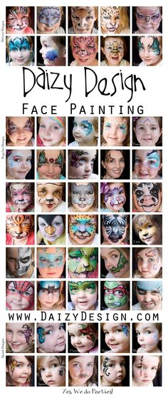 My new facepaint hero:Daizy Design Face Painting