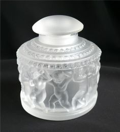 Outstanding-Lalique-Enfants-Frosted-Glass-Stoppered-Cologne-Perfume-Bottle