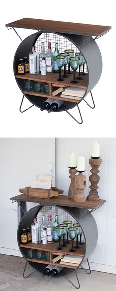 If you thought your entertaining know-how was spectacular, imagine how much more impressive it will be with this awesome accent. The Industrial Console is not just a real looker; it combines serving im...  Find the Industrial Console, as seen in the Father's Day Gift Guide Collection at http://dotandbo.com/collections/fathers-day-gift-guide?utm_source=pinterest