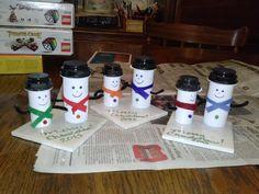 Repurpose your old Med Bottles.  Super easy Christmas decoration!