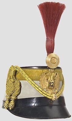Tschako für einen Trompeter im Range eines Korporals des 12.