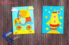 Шаблоны для аппликации для малышей 2-3 года транспорт: паровозик, кораблик, ракета, машинка