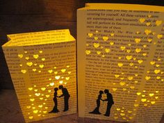 Luminary Set Book Wedding Bride & Groom First by Oldendesigns