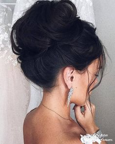 Wedding Hairstyles Inspiration : Ulyana Aster Long Bridal Hairstyles for Wedding # Long Bridal Hair, Romantic Wedding Hair, Bridal Updo, Wedding Updo, High Bun Hairstyles, Boho Hairstyles, Wedding Hairstyles, Hairstyle Ideas, Hair Ideas