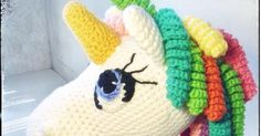 Free amigurumi unicorn eye tutorial.