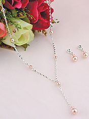 #8137-01 - Pearl Necklace with Crystals