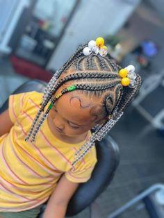 Black Baby Girl Hairstyles, Little Girls Natural Hairstyles, Cute Toddler Hairstyles, Cute Little Girl Hairstyles, Little Girl Braids, Kids Braided Hairstyles, Braids For Kids, Girls Braids, Kid Braid Styles
