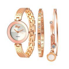 29ce7f6fd86 Xinge Watches Mosunx(TM) Women Brand Luxury Gold Rhinestone Bangle Watch  And Bracelet Set Girlfriend Gift (Gold )