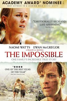 Impossible, The (DVD + Digital Copy + UltraViolet) on DVD from Summit Entertainment. Directed by Juan Antonio Bayona. Staring Ewan McGregor, Naomi Watts and Tom Holland. More Drama, Thrillers and Based-On-A-True-Story DVDs available @ DVD Empire. The Best Films, Great Films, Good Movies, Saddest Movies, Movies 2014, Awesome Movies, Oscar 2012, Ewan Mcgregor, The Impossible