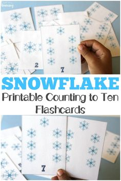 These printable snowflake counting flashcards are a perfect way to learn to count to ten this winter! #homeschooling #preschool #learning