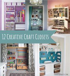 #papercraft #craftroom in a closet. craft-closets2