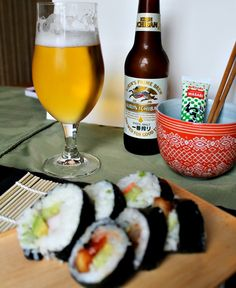 Sushi Rolls, 3 Ways with Kirin Beer #sponsored