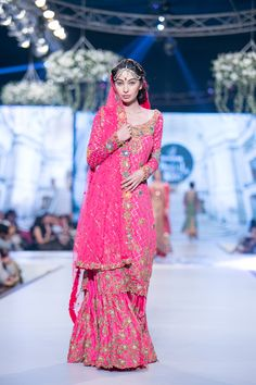 Sharara by Tena Durrani at 2014 PBCW Bridal Collection Pakistani wedding clothes