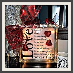 All New! Love is Patient Light up Ornament, GF022