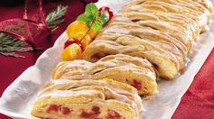 Cheers to cherries, cream cheese and crescent rolls. Now that's a delicious coffee cake!