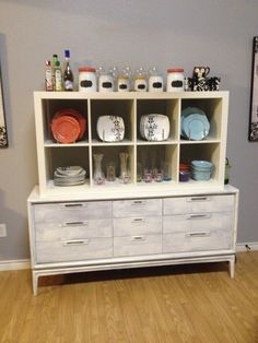 Revamped dresser with added shelving system from IKEA