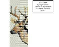 Buck Fever - Pattern Download - Peyote Stitch - Even Count