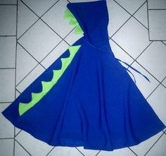 Kostüme für Kinder - Umhang blauer DRACHE, Drachenumhang, Dinosaurier -