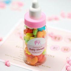 Mini Plastic Baby Bottles - great baby shower favor