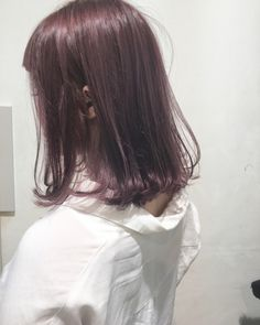 undefined Ash Brown Hair Color, Ombre Hair Color, Cool Hair Color, Medium Hair Cuts, Medium Hair Styles, Short Hair Styles, Japanese Hair Color, Pixie, Bob Haircut With Bangs